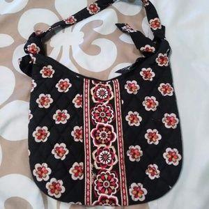 NWOT Vera Bradley Pirouette flower black bag